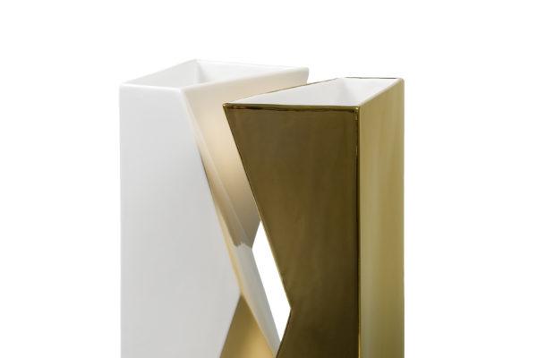 VASO VERSO 2 (Bianco E Oro)