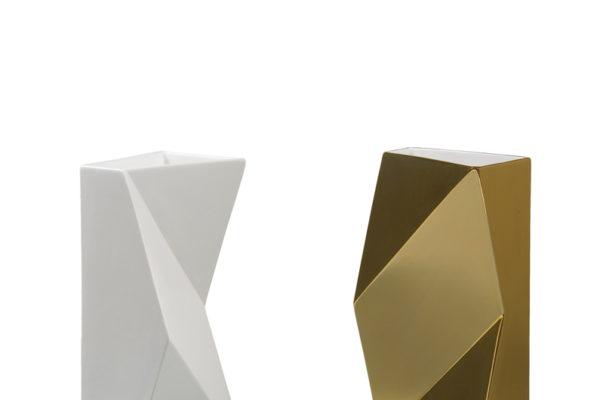 VASO VERSO (Bianco E Oro)