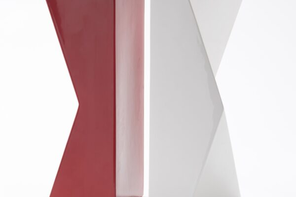 vaso rosso schiena schiena